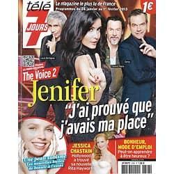 TELE 7 JOURS n°2748 26/01/2013  The Voice 2-Jenifer-Garou-Pagny-Bertignac/ Jessica Chastain