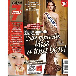 TELE 7 JOURS n°2743 22/12/2012  Miss France Marine Lorphelin/ Nicolas Hulot/ Disney/ Richard Gere
