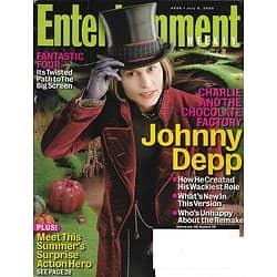 ENTERTAINMENT WEEKLY n°828 08/07/2005  Johnny Depp/ Tim Burton/ Sedgwick/ Zupan
