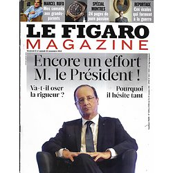 LE FIGARO MAGAZINE n°21235 09/11/2012  Hollande: encore un effort!/ Les sortilèges de Bornéo/ Rufo: conseils aux grands-parents/ Tigres de Sibérie/ Samantha Davies
