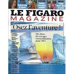 LE FIGARO MAGAZINE n°21281 04/01/2013  Voyages extraordinaires/ Soutine/ Laetitia Casta/ Rentrée littéraire