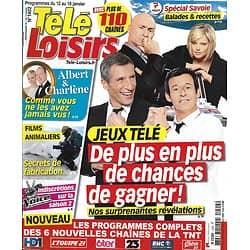 """TELE LOISIRS n°1402 12/01/2013  Jeux télé/ Albert de Monaco/ Spécial Savoie/ Manoukian/ """"Koh-Lanta"""""""