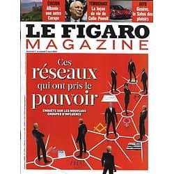 LE FIGARO MAGAZINE n°21329 01/03/2013  Ces réseaux qui ont pris le pouvoir/ Colin Powell/ Albanie/ Séries françaises