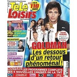 """TELE LOISIRS n°1403 19/01/2013  Goldman, le retour/ La méthode Plaza/ Nadal/ """"Unforgettable""""/ """"Jackson Brodie""""/ """"Hunger Games"""
