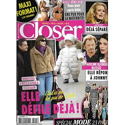 CLOSER n°401 16/02/2013  Carla Bruni/ Adeline Blondieau/ Gisele Bundchen/ Adele/ Spécial Mode