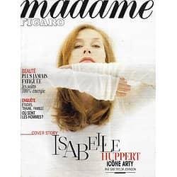 MADAME FIGARO n°21323 22/02/2013  Isabelle Huppert/ Filippetti & Desplechin/ Déclin de l'empire masculin