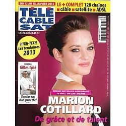 Télé Cable Sat n°1184 12/01/2013  Marion Cotillard/ Gilles Epié/ Tarantino/ Onesta/ Dujardin