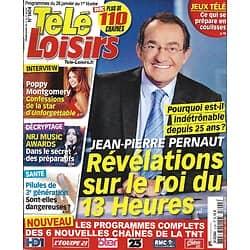 "TELE LOISIRS n°1404 26/01/2013  Jean-Pierre Pernaut/ Poppy Montgomery/ NRJ Music Awards/ ""Koh-Lanta"""