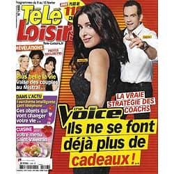 """TELE LOISIRS n°1406 09/02/2013  """"The Voice"""" la stratégie des coachs: Jenifer, Garou, Pagny & Bertignac/ """"Plus belle la vie""""/ """"Psychose""""/ Notre-Dame"""