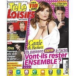 """TELE LOISIRS n°1408 23/02/2013  """"Castle"""" Nathan Fillion & Stana Katic/ Adeline Blondieau/ """"NCIS"""" Cote de Pablo/ Bruce Willis/ Le clan Chirac"""
