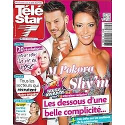 TELE STAR n°1895 26/01/2013  Shy'm & M Pokora/ Aurélie Vaneck/ Cote De Pablo/ Lio