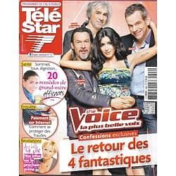 "TELE STAR n°1896 02/02/2013   ""The Voice 2"" Jenifer, Garou, Pagny & Bertignac/ ""Top Chef""/ Beyonce/ Nicole Kidman"