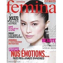 VERSION FEMINA n°572 18/03/2013  Spécial Emotions/ Matthieu Chedid/ Croisières/ Mode jean