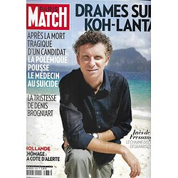 PARIS MATCH n°3333 04/04/2013  Drames sur Koh-Lanta/ Simon Baker/ Inès de la Fressange/ Hollande