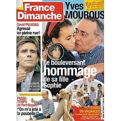 FRANCE DIMANCHE n°3332 09/07/2010  Yves Mourousi/ David Pujadas/ Passe-Temps/ Stars en vacances/ Laurent Terzieff/ Claude Sarraute/ David Douillet
