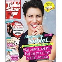 TELE STAR n°1900 02/03/2013  Alessandra Sublet Rédac En Chef/ N°100% Femmes/ Angie Harmon/ Sophie Davant/ Sandrine Bonnaire
