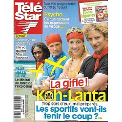 """TELE STAR n°1749 10/04/2010  TELE STAR n°1749 10/04/2010  """"Koh-Lanta""""/ Fabienne Carat/ Catherine Deneuve/ David Beckham/ Robert Pattinson"""