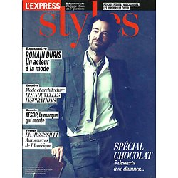 L'EXPRESS STYLES n°3200 31/10/2012  Romain Duris/ Chocolat/ Aesop/ Saint Louis