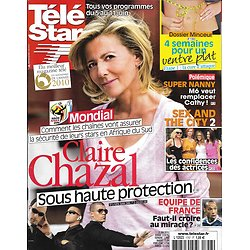 "TELE STAR n°1757 05/06/2010  Claire Chazal/ ""Sex And The City 2""/ Coupe Du Monde/ Super Nanny"