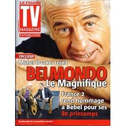 "TV MAGAZINE n°21365 14/04/2013  Exclusif: Jean-Paul Belmondo/ Denis Brogniart ""Koh-Lanta""/ Bocuse"