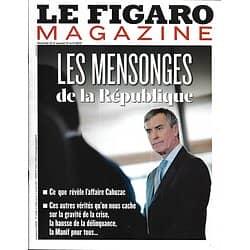 LE FIGARO MAGAZINE n°21365 12/04/2013  Affaire Cahuzac: Les mensonges de la République/ La Riviera maya/ Trésor Saint-Sépulcre