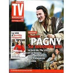 "TV MAGAZINE n°21377 16/04/2013  Florent Pagny ""The Voice""/ Aurélie Filipetti"