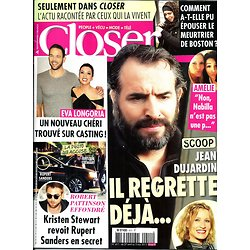 CLOSER n°411 26/04/2013  Jean Dujardin/ Eva Longoria/ Robert Pattinson & Kristen Stewart/ Kate Middleton/ Coeur de Pirate