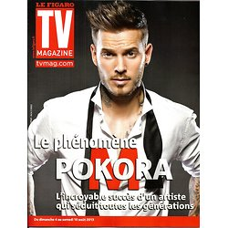 TV MAGAZINE n°21460 04/08/2013  M. Pokora/ Virginie Guilhaume/ Tiffani Thiessen