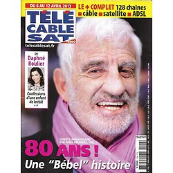 """Télé Cable Sat n°1196 06/04/2013  Jean-Paul Belmondo/ Daphné Roulier/ """"AHS: American Horror Story""""/ Jacques Demy"""