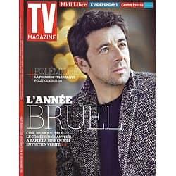 "TV MAGAZINE n°21881 14/12/2014  Patrick Bruel/ ""Mentalist""/ Hélène Rollès/ Marie Drucker"
