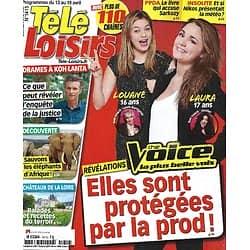 """TELE LOISIRS n°1415 13/04/2013  """"The Voice"""" Louane & Laura/ Drames à """"Koh-Lanta""""/ Jean-Paul Belmondo/ Spécial Val de Loire"""
