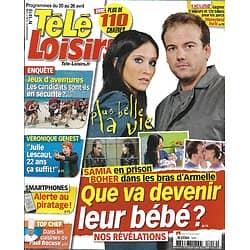 """TELE LOISIRS n°1416 20/04/2013  """"Plus belle la vie"""" Fabienne Carat & Stéphane Hénon/ Julie Lescaut/ Jean Reno/ William & Kate/ """"Revenge""""/ Jeux d'aventures"""
