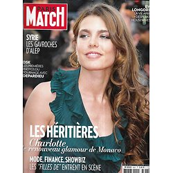 PARIS MATCH n°3337 02/05/2013  Les héritières/ Charlotte Casiraghi/ DSK-Depardieu/ Simon Baker/ Les Gavroches de Syrie/ Eva Longoria