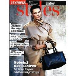 L'EXPRESS STYLES n°3221 27/03/2013  Spécial accessoires/ Carla Bruni/ Bali/ Chocolat