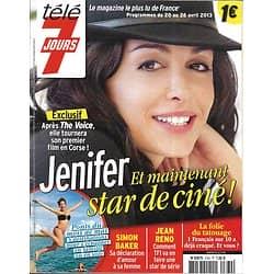 TELE 7 JOURS n°2760 20/04/2013  Jenifer/ Simon Baker/ Jean Reno/ Jolie&Pitt/ Retour vers le futur 2