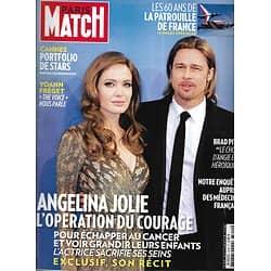 PARIS MATCH n°3340 22/05/2013  Angelina Jolie courageuse/ Spécial Cannes/ Patrouille de France/ Thomas Dutronc