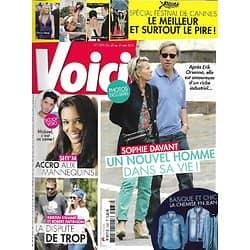 VOICI n°1333 25/05/2013  Sophie Davant/ Shy'm/ Robert Pattinson/ Spécial Festival de Cannes/ David Beckham/Russell Crowe