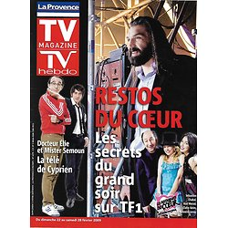 TV MAGAZINE n°1151 21/02/2009  Les Enfoirés/ Sébastien Chabal/ Claire Keim/ Patrick Bruel/ Elie Semoun