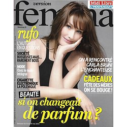 VERSION FEMINA n°580 13/05/2013  Carla Bruni/ Parfums/ Rufo: autorité en questions/ Mode nude