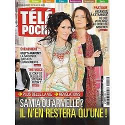 "TELE POCHE n°2462 20/04/2013  ""Plus belle la vie"" Fabienne Carat: Révélations/ Stéphane Rizon/ Jean Reno/ ""Grey's Anatomy"""