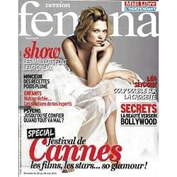 VERSION FEMINA n°581 20/05/2013  Léa Seydoux/ Spécial Festival de Cannes/ Minceur/ Maillot