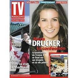 TV MAGAZINE n°21406 02/06/2013  Marie Drucker/ Jean-Marc Généreux/ The Voice/ Mélissa Theuriau