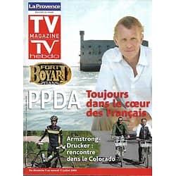 TV MAGAZINE n°1170 04/07/2009  PPDA/ Amstrong & Michel Drucker/ Alain Ducasse