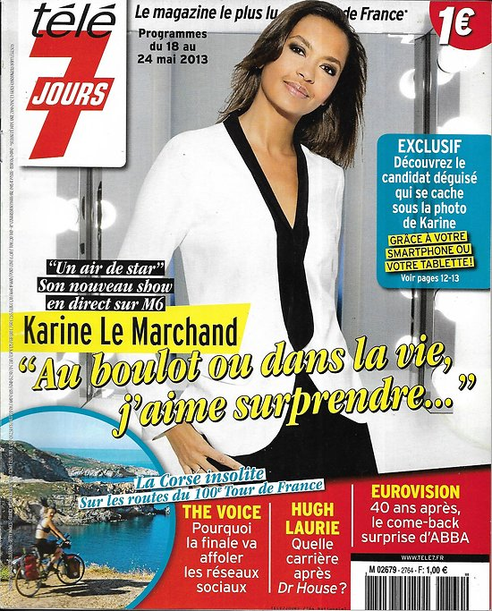 TELE 7 JOURS n°2764 18/05/2013  Karine Le Marchand/ Hugh Laurie-Dr House/ The Voice