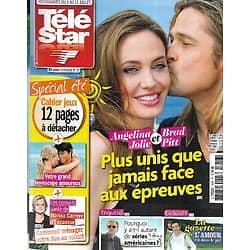 "TELE STAR n°1918 06/07/2013  Angelina Jolie & Brad Pitt/ Catherine Deneuve/ ""Bones""/ Josh Henderson/ ""Fort Boyard"""