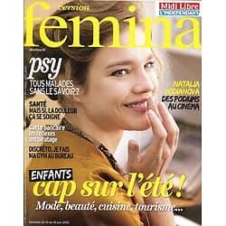 VERSION FEMINA n°584 10/26/013  Natalia Vodianova/ Spécial enfants: mode, balades, salades, soins/ Stop à la douleur