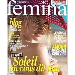 VERSION FEMINA n°585 17/06/2013  Spécial Soleil/ Fanny Ardant/ Cuisine épicée/ Mode Tropiques