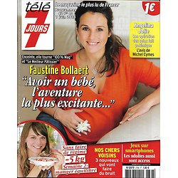 TELE 7 JOURS n°2766 01/06/2013  Faustine Bollaert/ Angelina Jolie/ France Gall/ Stallone/ Audrey Fleurot