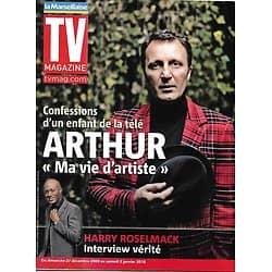 TV MAGAZINE n°1195 27/12/2009  Arthur/ Harry Roselmack/ Michel Leeb/ Top 14