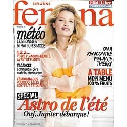 VERSION FEMINA n°587 01/07/2013  Mélanie Thierry/ Mode météo/ Menu fruits/ Astro